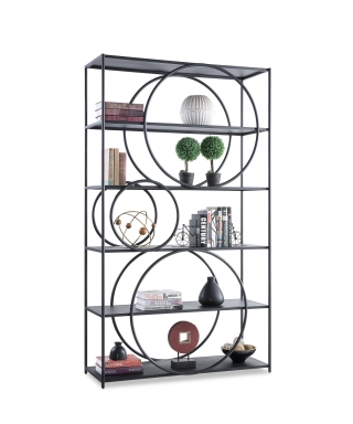 23013 PERIMETER - CONTEMPORARY IRON BOOKCASE