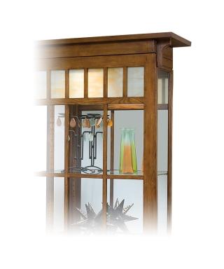 11051 BEDFORD PARK TWO-WAY SLIDING DOOR CURIO CABINET