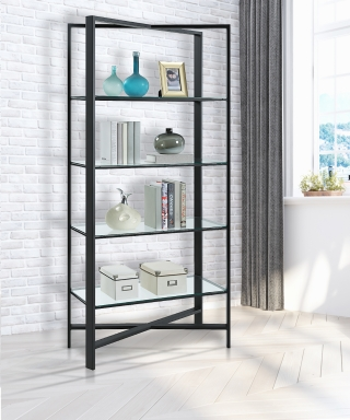 22013 X-CETERA - CONTEMPORARY IRON BOOKCASE