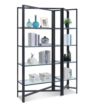 22013, 22113 X-CETERA - CONTEMPORARY IRON BOOKCASE