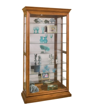 58251 MANIFESTATION EIGHT-SHELF TWO-WAY SLIDING DOOR COLLECTORS CURIO CABINET