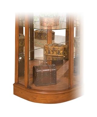 15951 AUBERAGE II CURVED CORNER CURIO CABINET