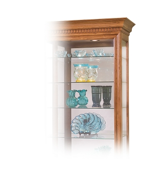 54551 OCTAVE EIGHT-SHELF CURIO CABINET