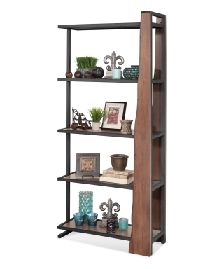16462 Wildwood Live Edge Industrial Pier Bookcase